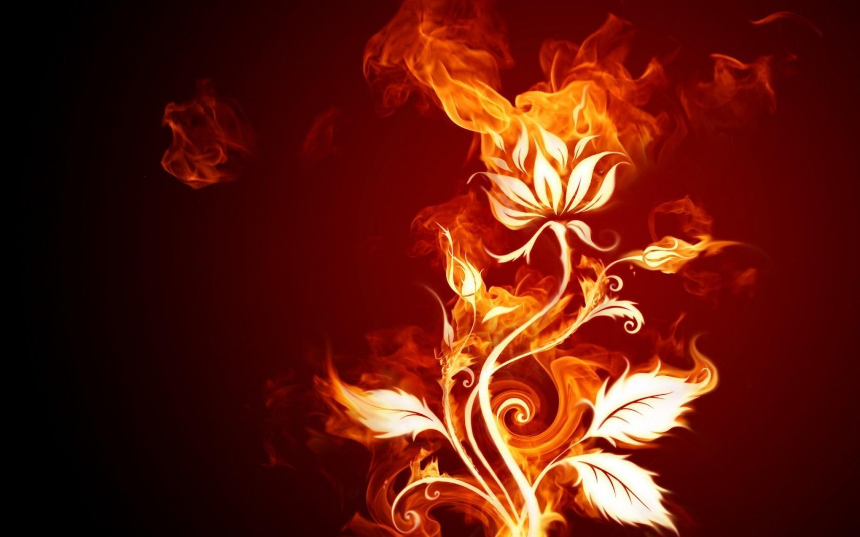 flaming fireplace wallpaper - photo #15