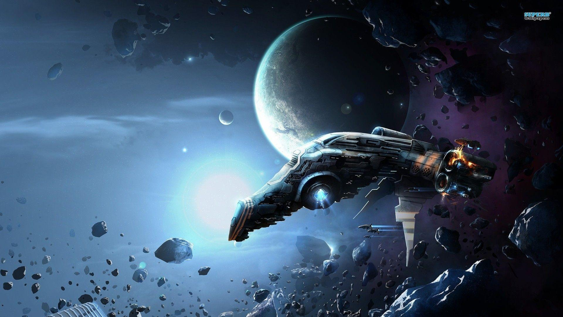 Fantasy Spaceship Wallpaper Wallpapers 1920x1080PX ~ Wallpaper Hd ...