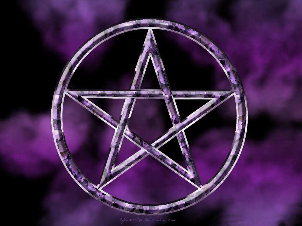 Flaming Pentagram Wallpaper