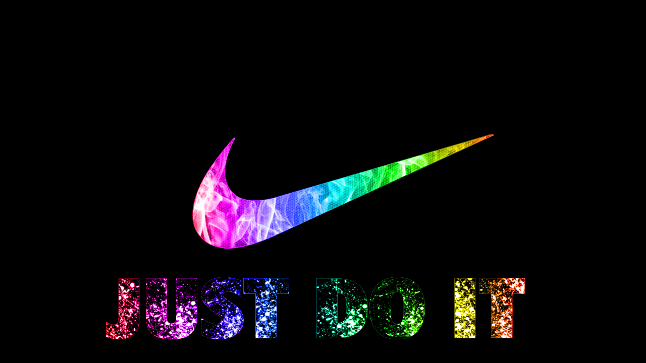 3d Nike Just Do It Colorful Wallpapers Desktop Backgrounds Free
