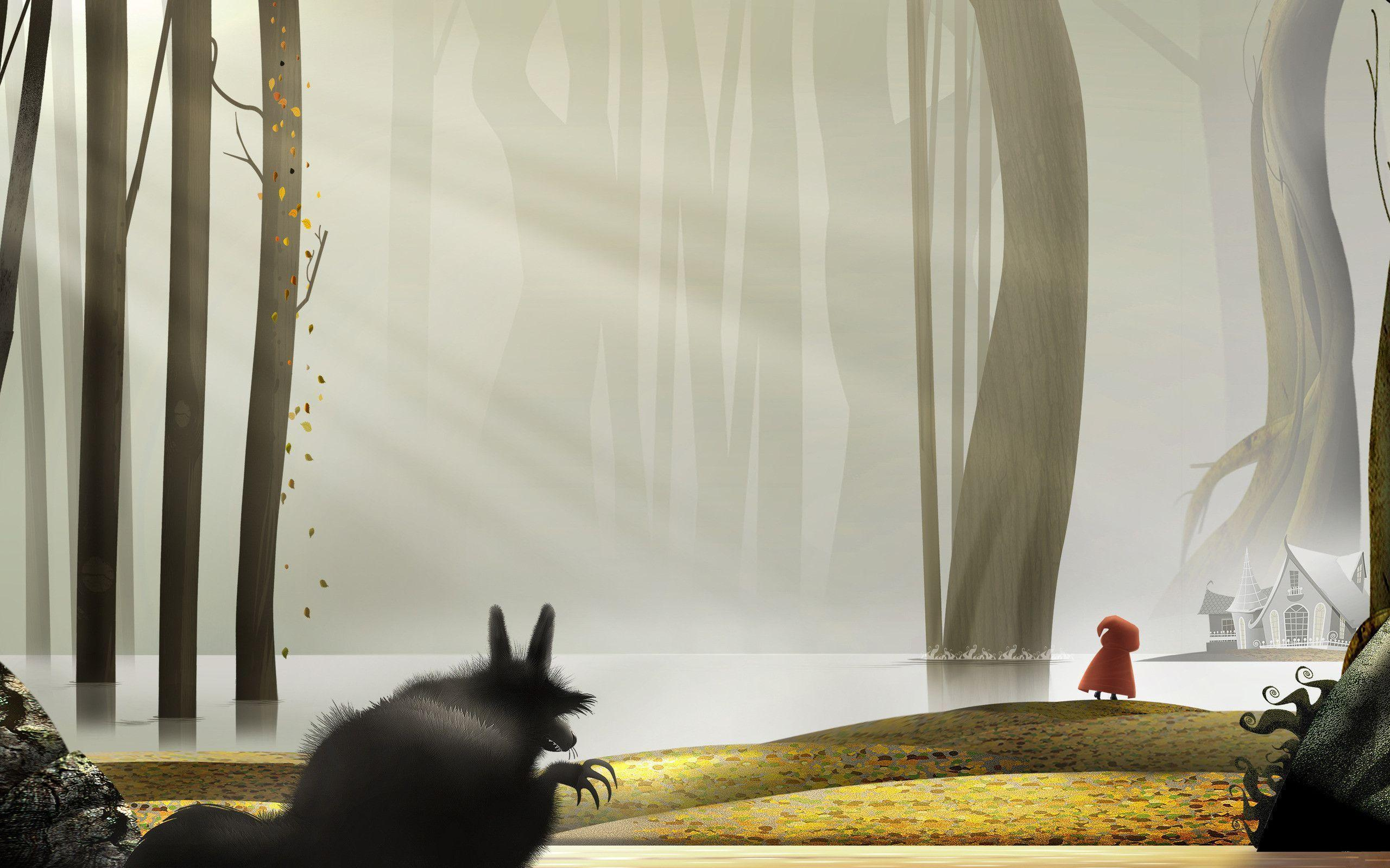 Red riding hood wallpapers wallpaper cave - Hood cartoon wallpaper ...
