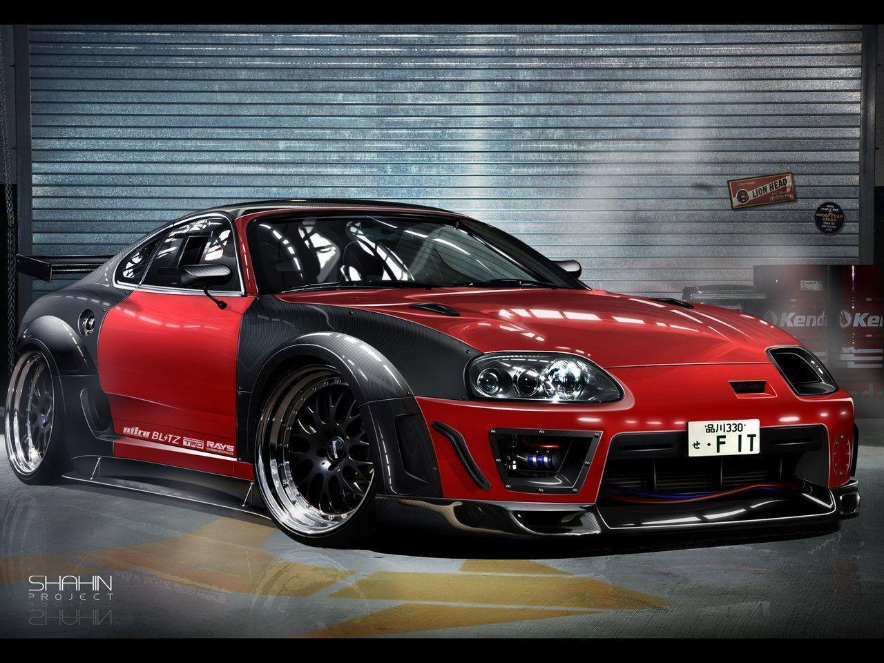 Red Toyota Supra 1080p Wallpapers