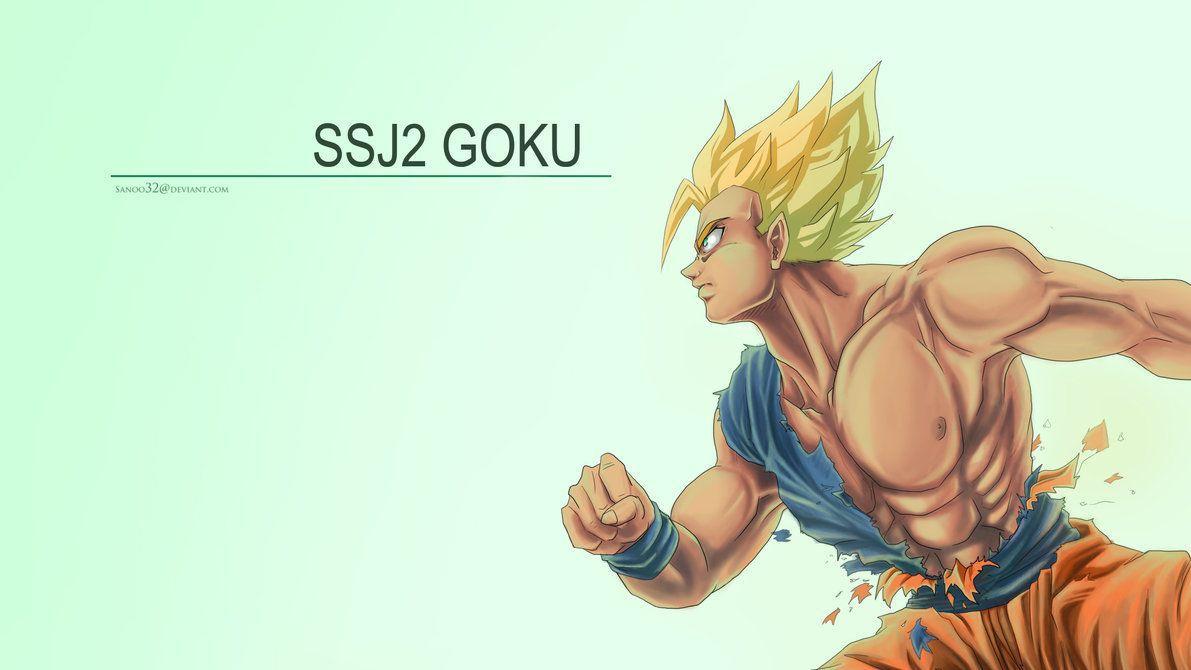 SSJ2 Goku Wallpaper by Sanoo32 on DeviantArt
