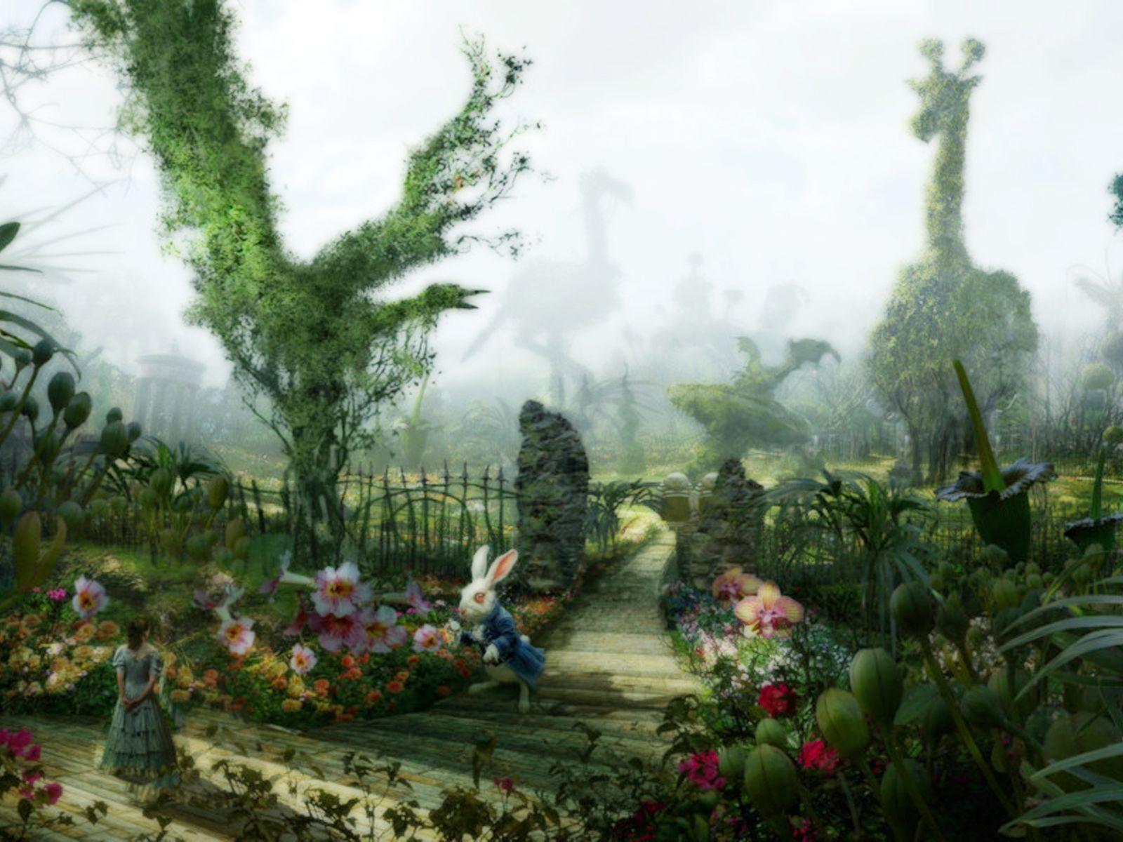Alice in wonderland wallpapers wallpaper cave for Au jardin d alice flers