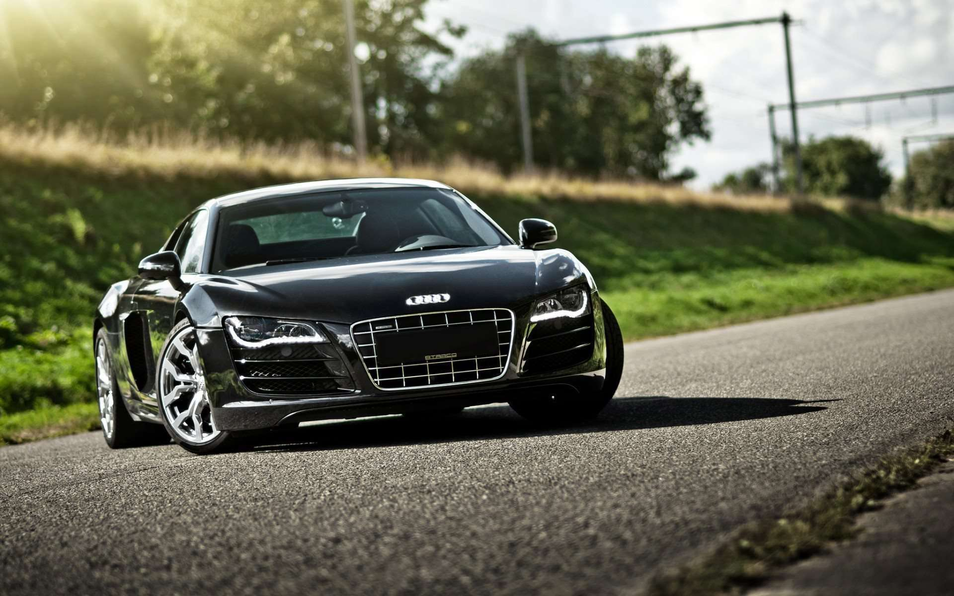 Black Audi R8 Wallpaper HD Widescreen