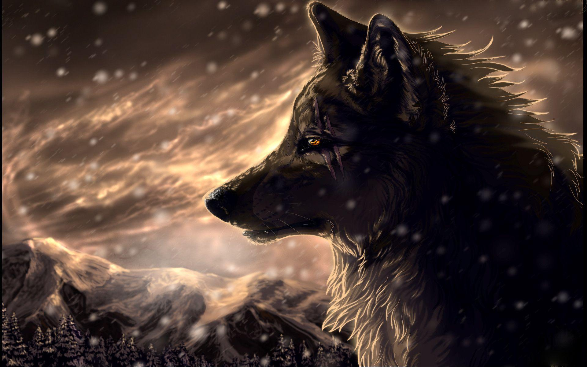 Fantasy Bilder Wolf