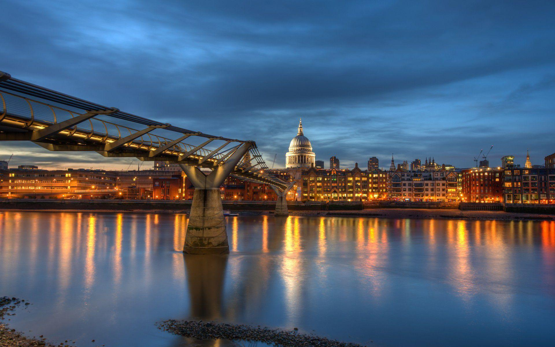 London Millennium Bridge desktop backgrounds
