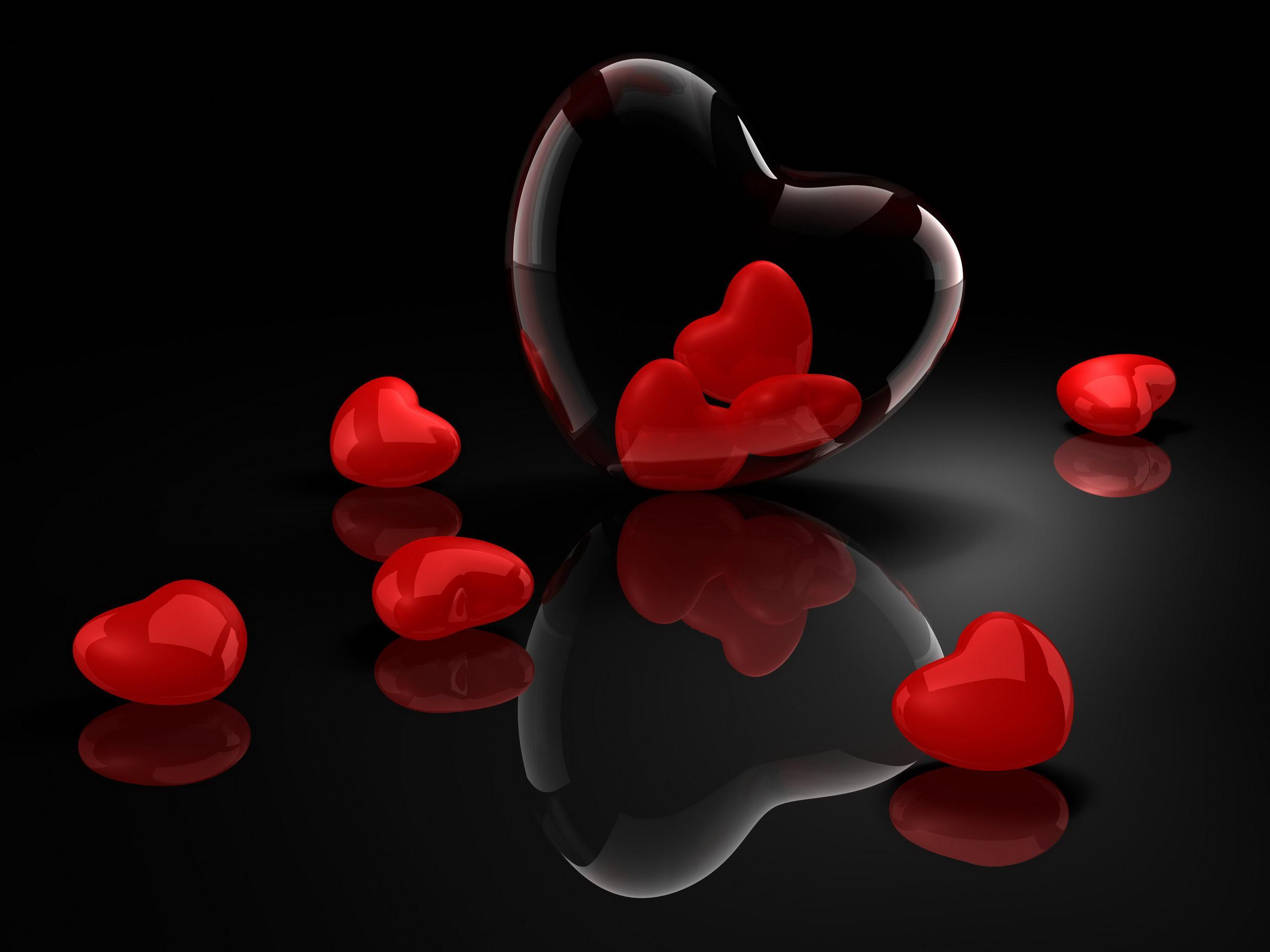 Love Wallpaper 3d Free : Heart Black Backgrounds - Wallpaper cave
