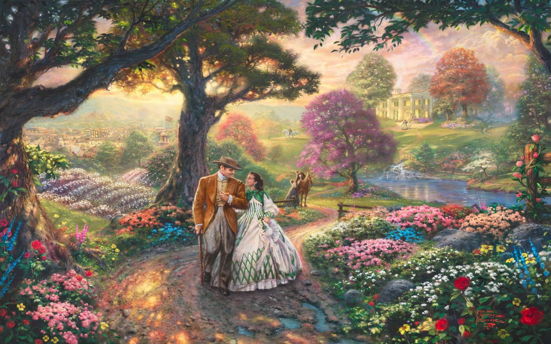 Home Wallpaper Life: Thomas Kinkade Disney Wallpapers