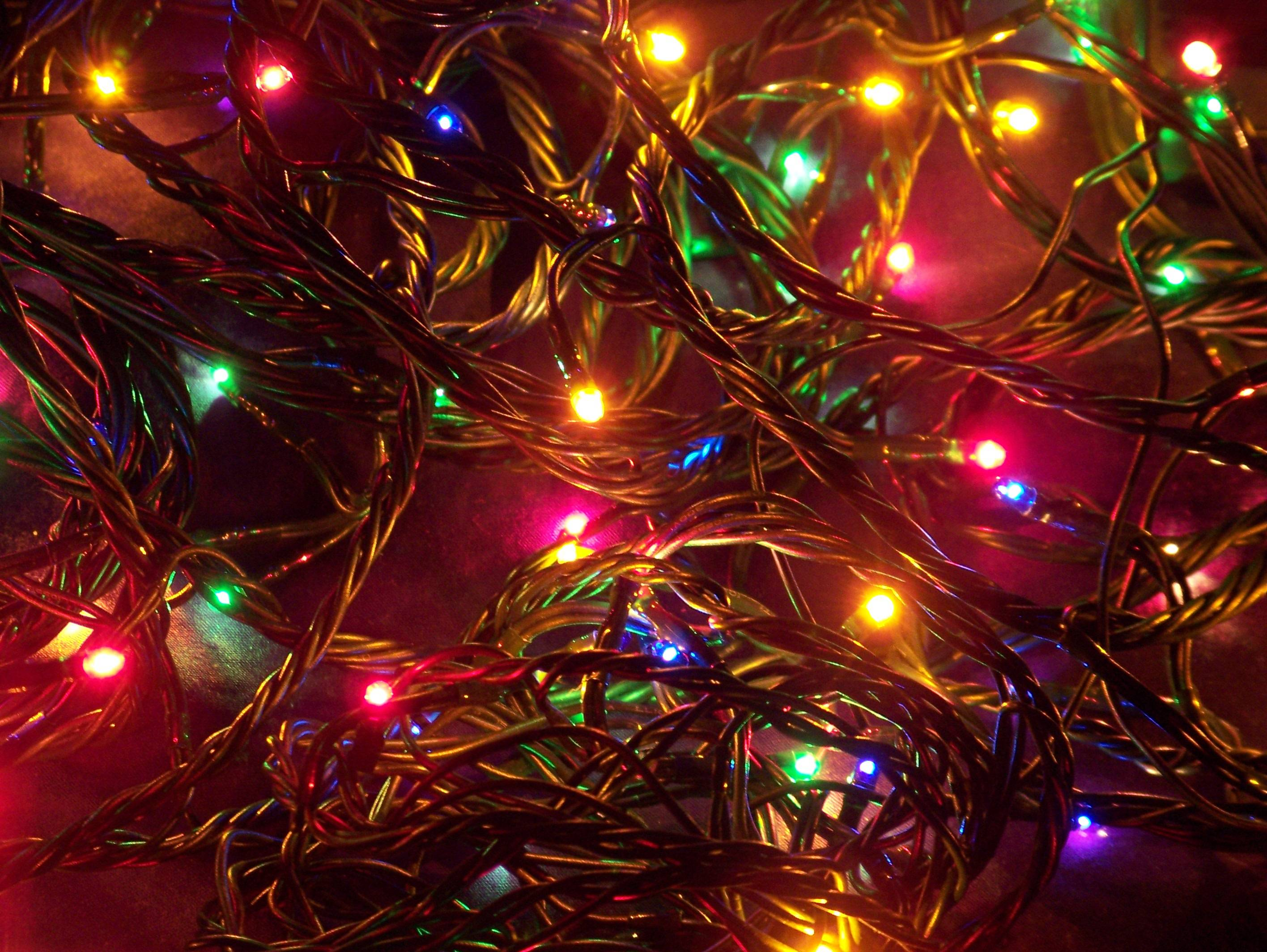 Xmas lights wallpaper | afunfacts.