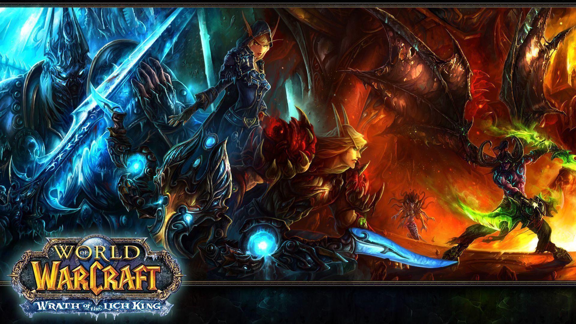 World Of Warcraft Alliance vs Horde Widescreen Background ...