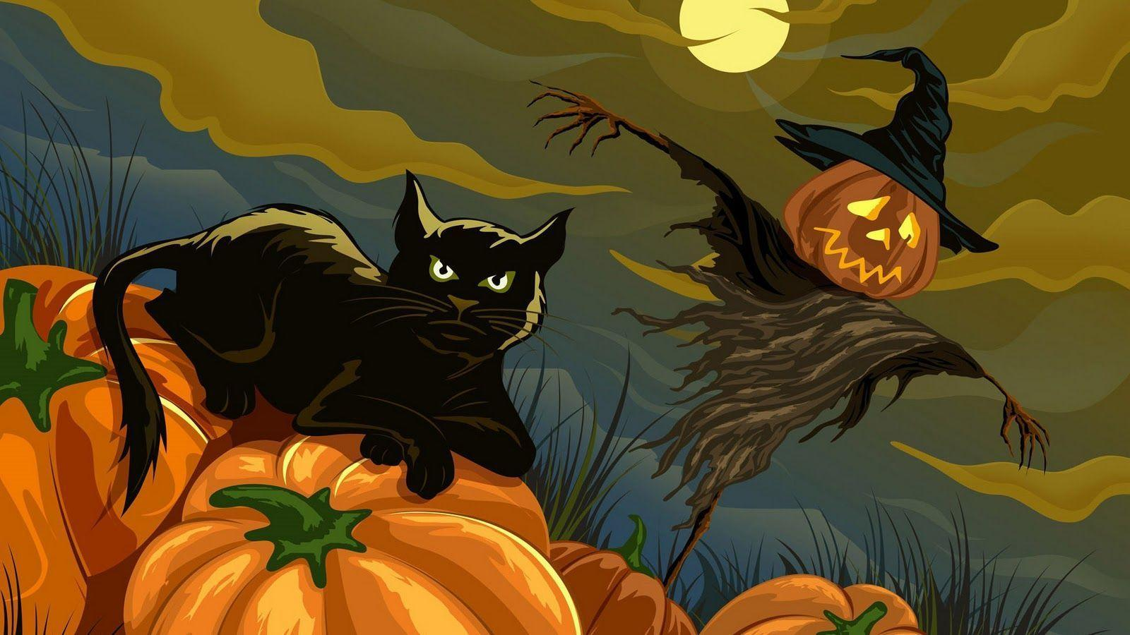 halloween black cat wallpaper | My Quotes Life