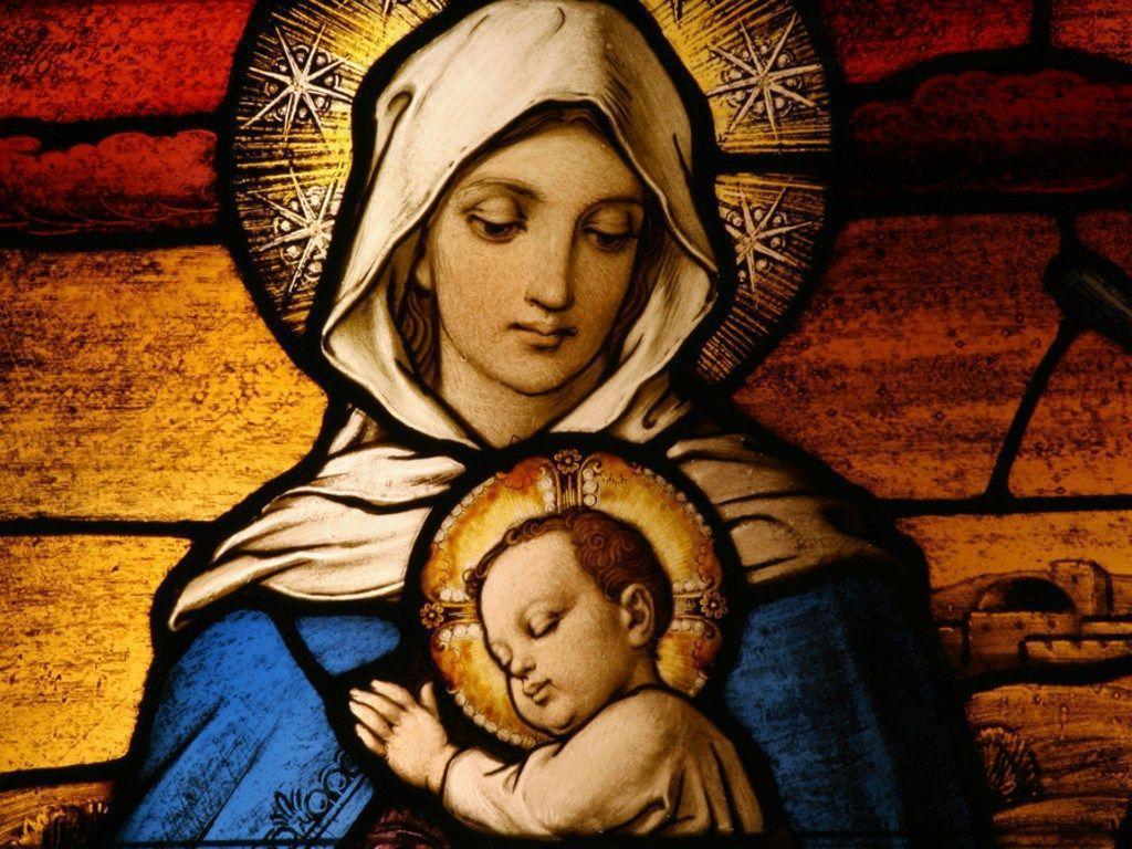 Virgin Mary Holding Baby Jesus Image