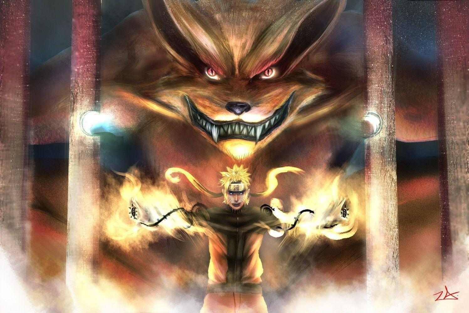 Lights Fire Power Naruto Shippuden Red Eyes Cage Kyuubi, Anime