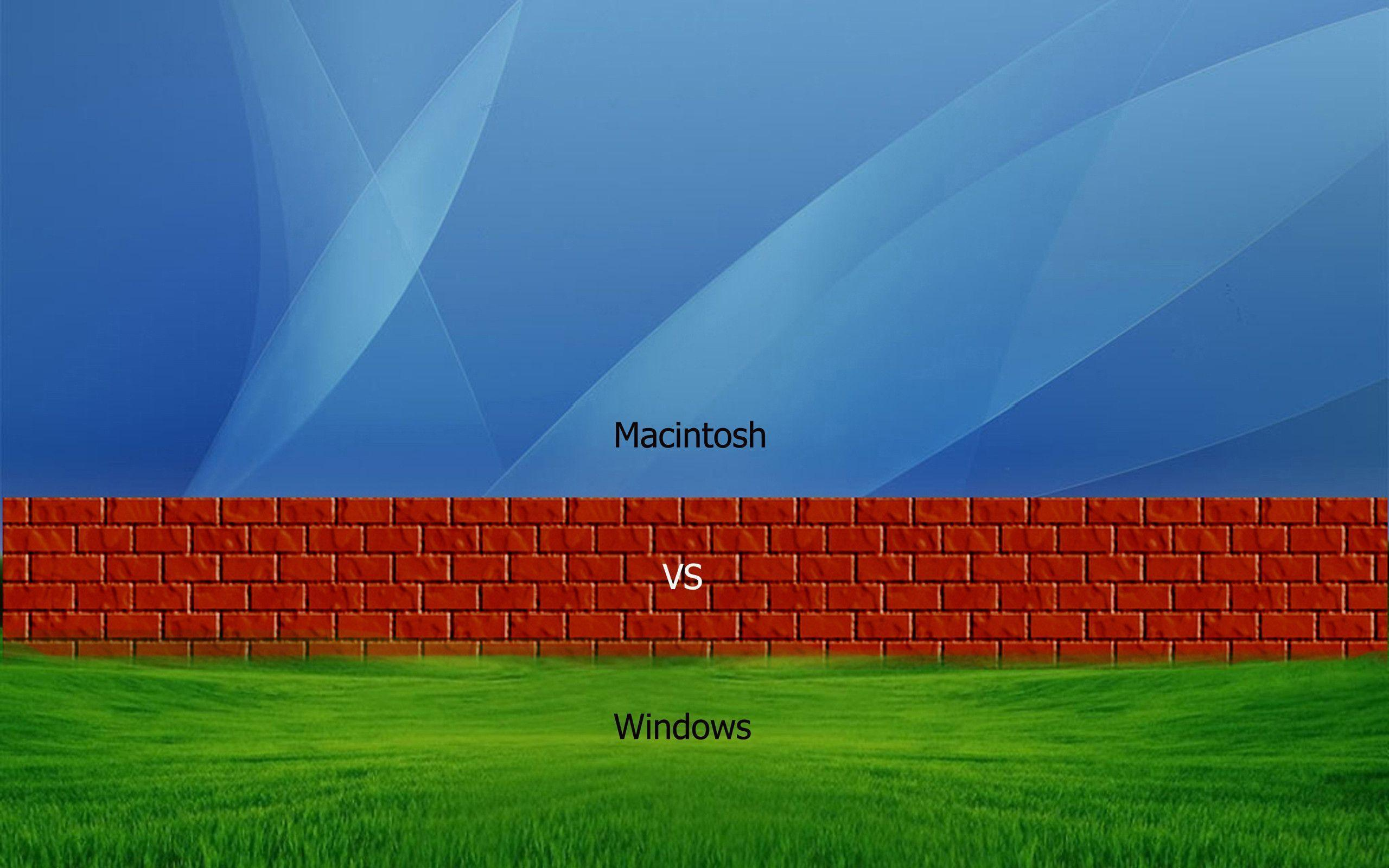 Mac VS Windows by sagorpirbd