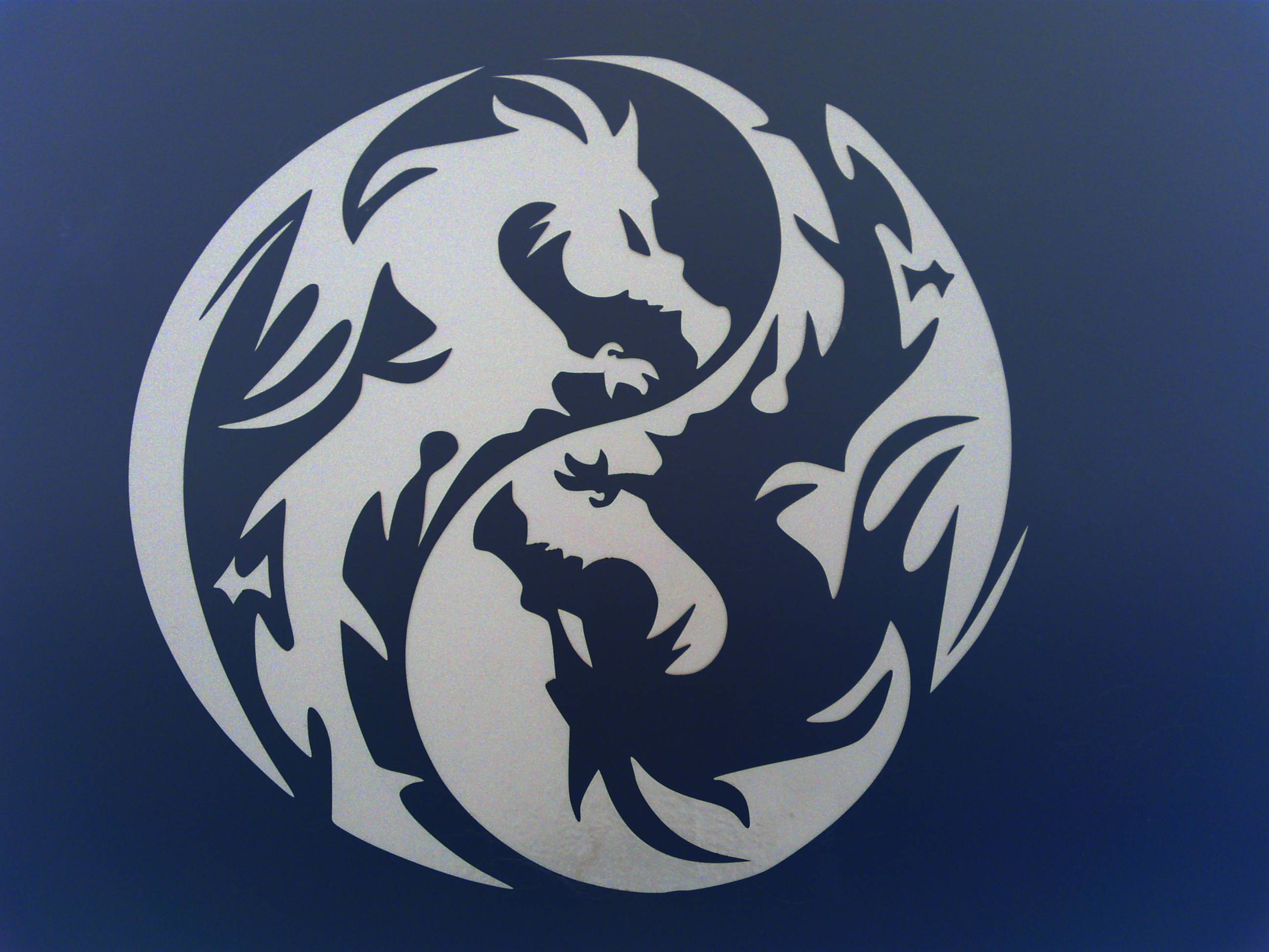 Dragon Yin Yang Wallpapers Wallpaper Cave