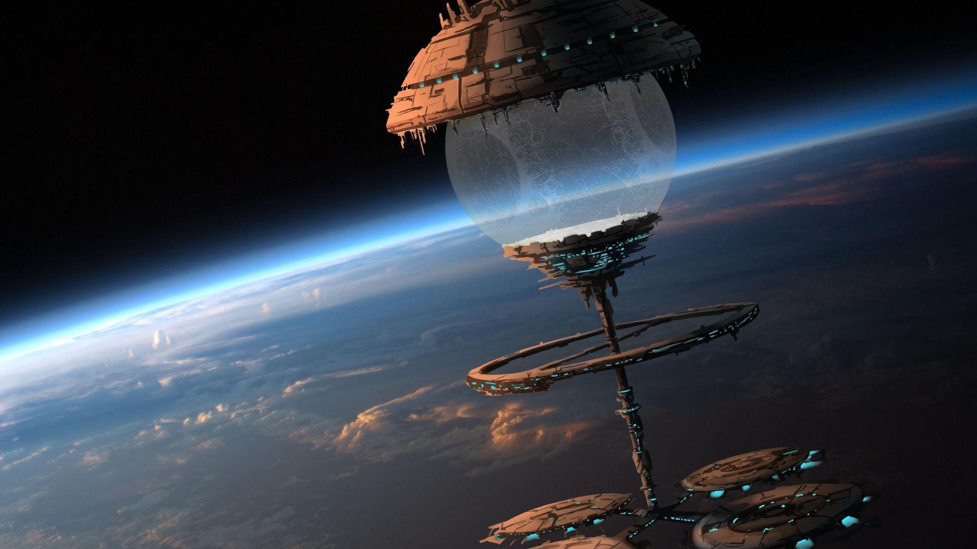 Space fantasy wallpapers wallpaper cave - Space station wallpaper ...