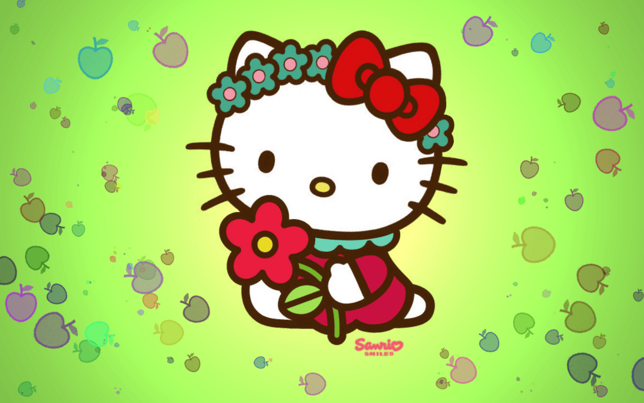Simple Wallpaper Hello Kitty Spring - HFwifBh  Image_631491.png