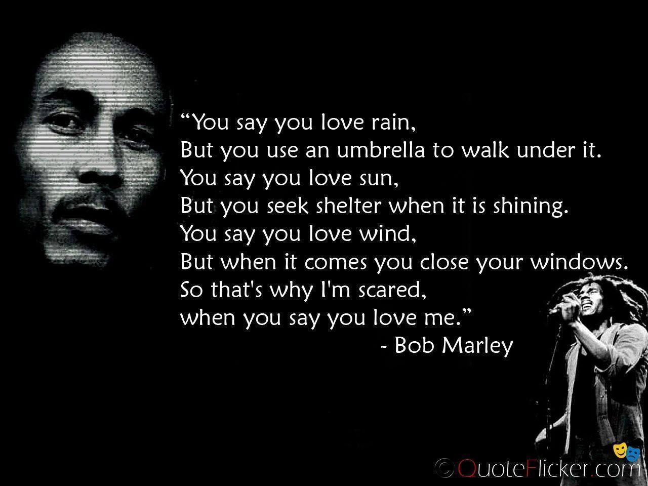 Bob Marley Quotes e Love e Heart e Destiny quotes