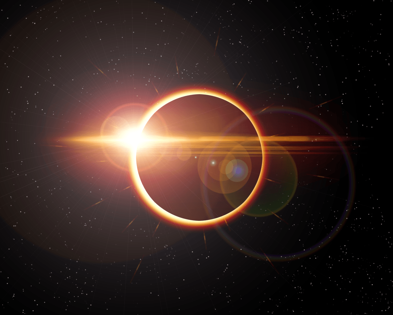 Solar Eclipse top of Earth, Sky Wallpaper, hd phone wallpapers