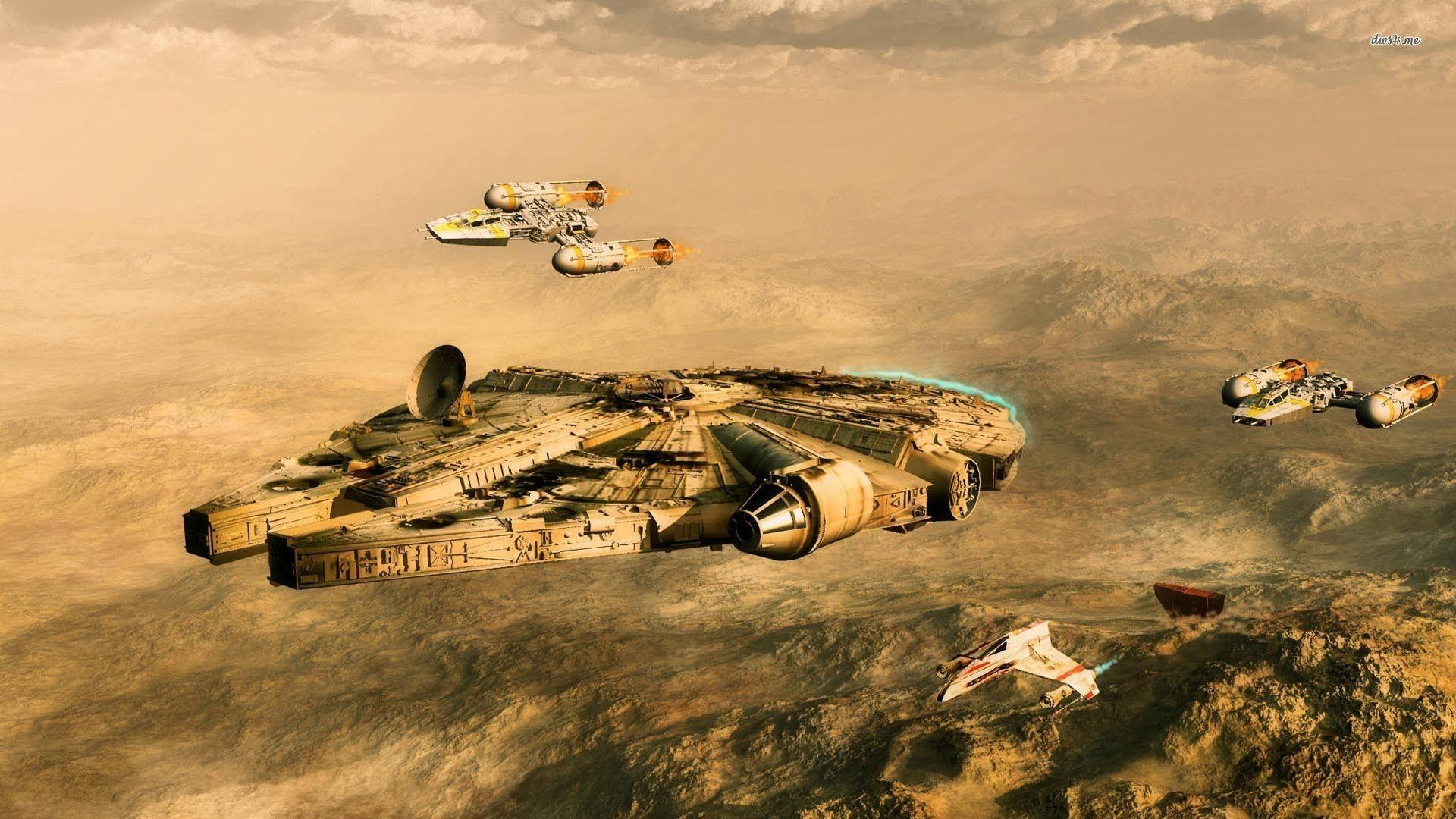 Millenium Falcon Wallpaper on 35463