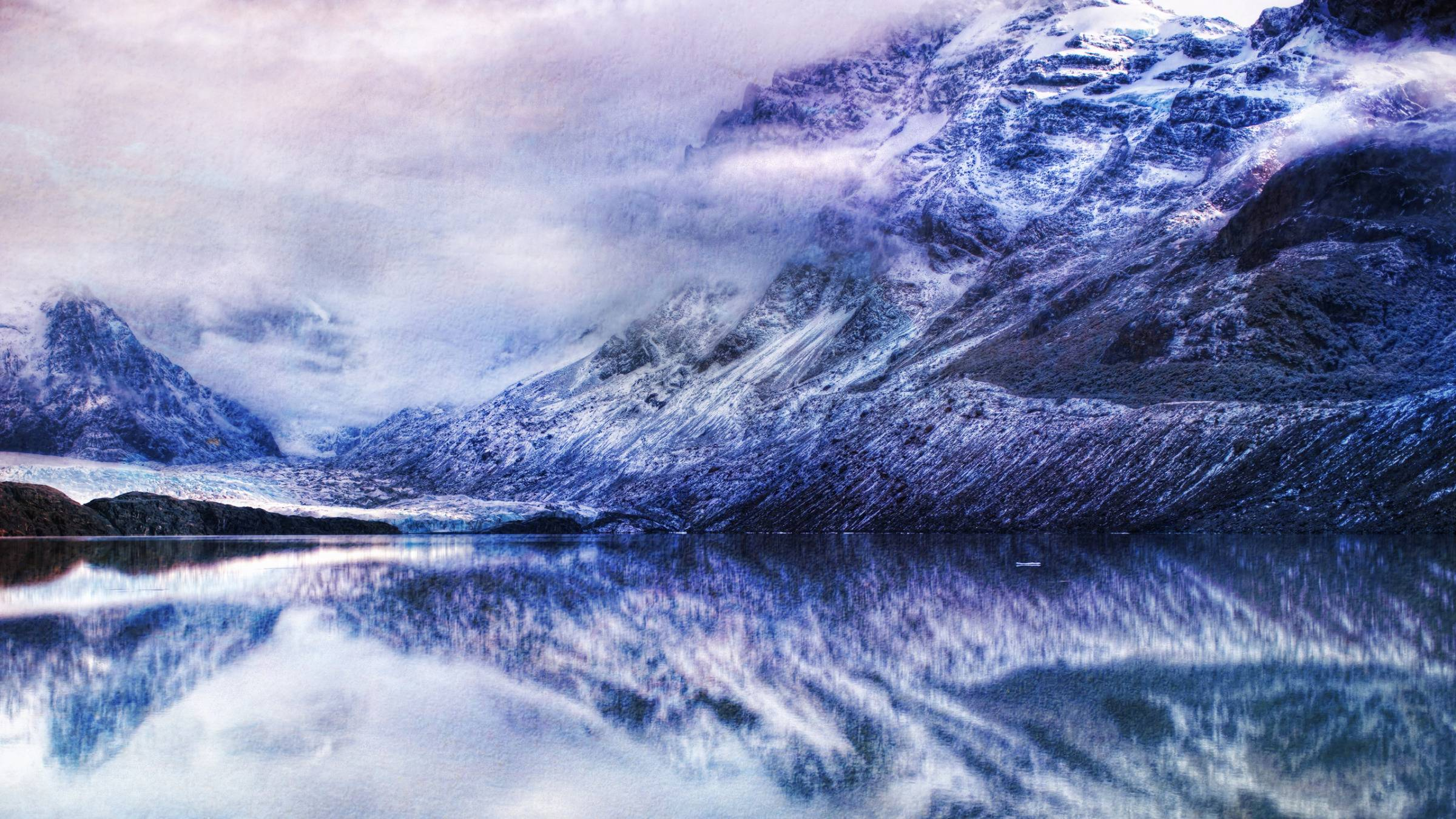 The Glassy Lake Near Antarctica widescreen wallpapers