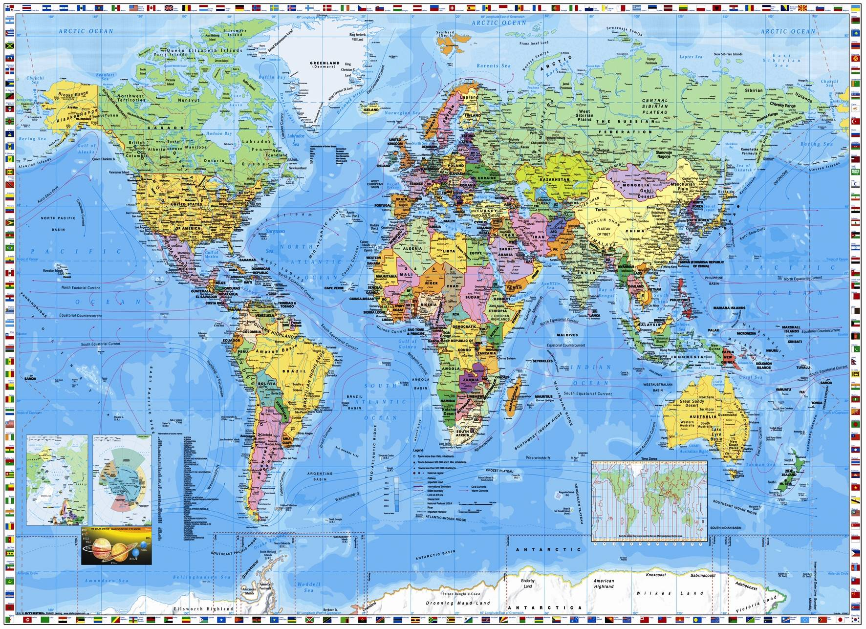 World Map Wallpapers High Resolution Wallpaper Cave - Labeled world map