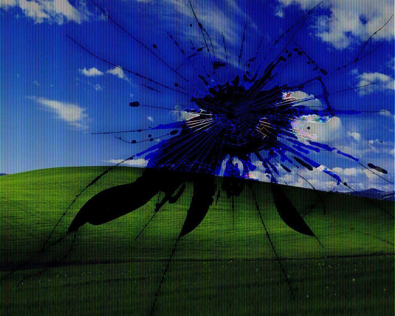 Windows 7 Broken Screen Widescreen HD Wallpapers