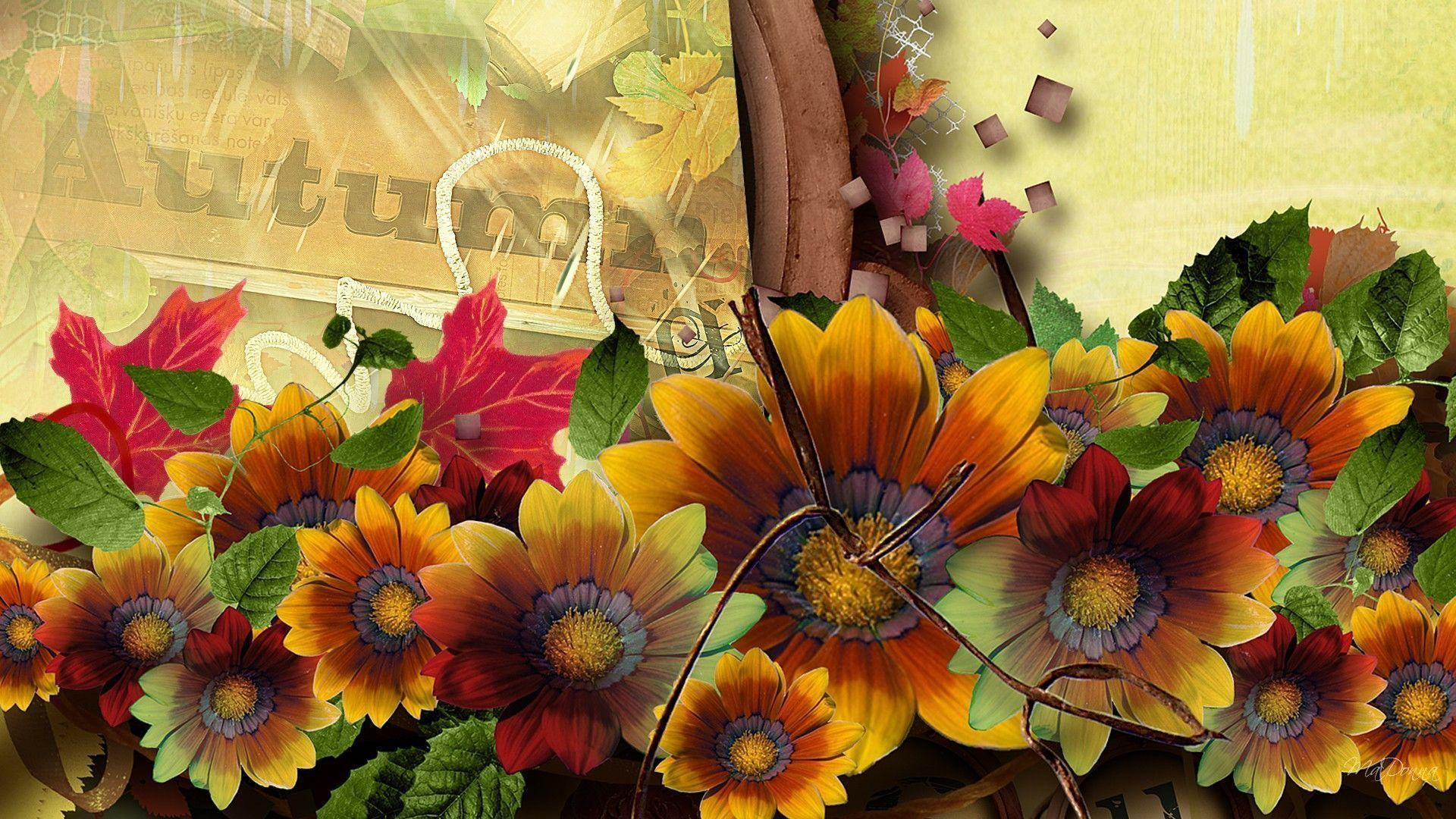 fall flowers wallpaper by - photo #19