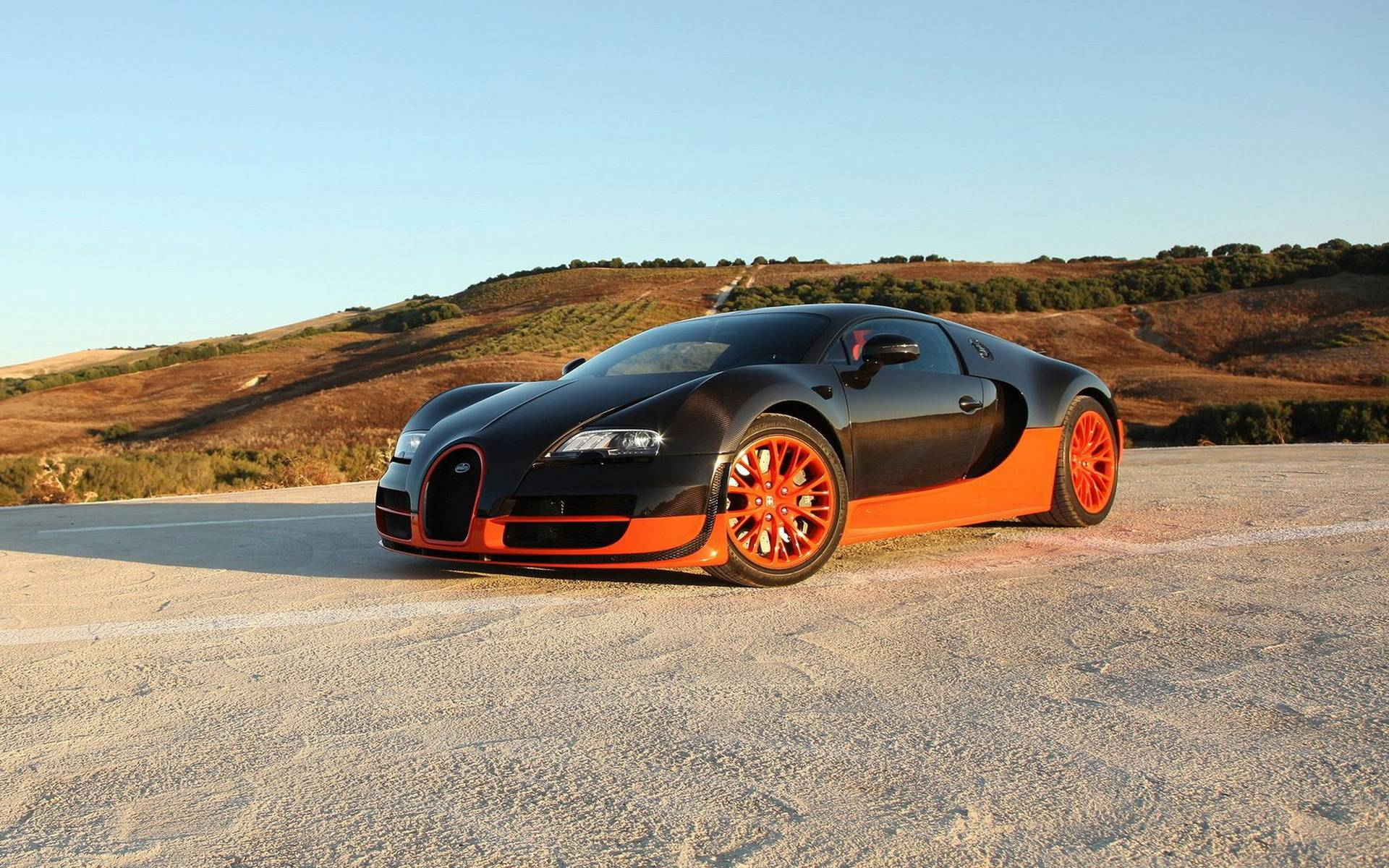 Blue Bugatti Veyron Super Sport Wallpaper