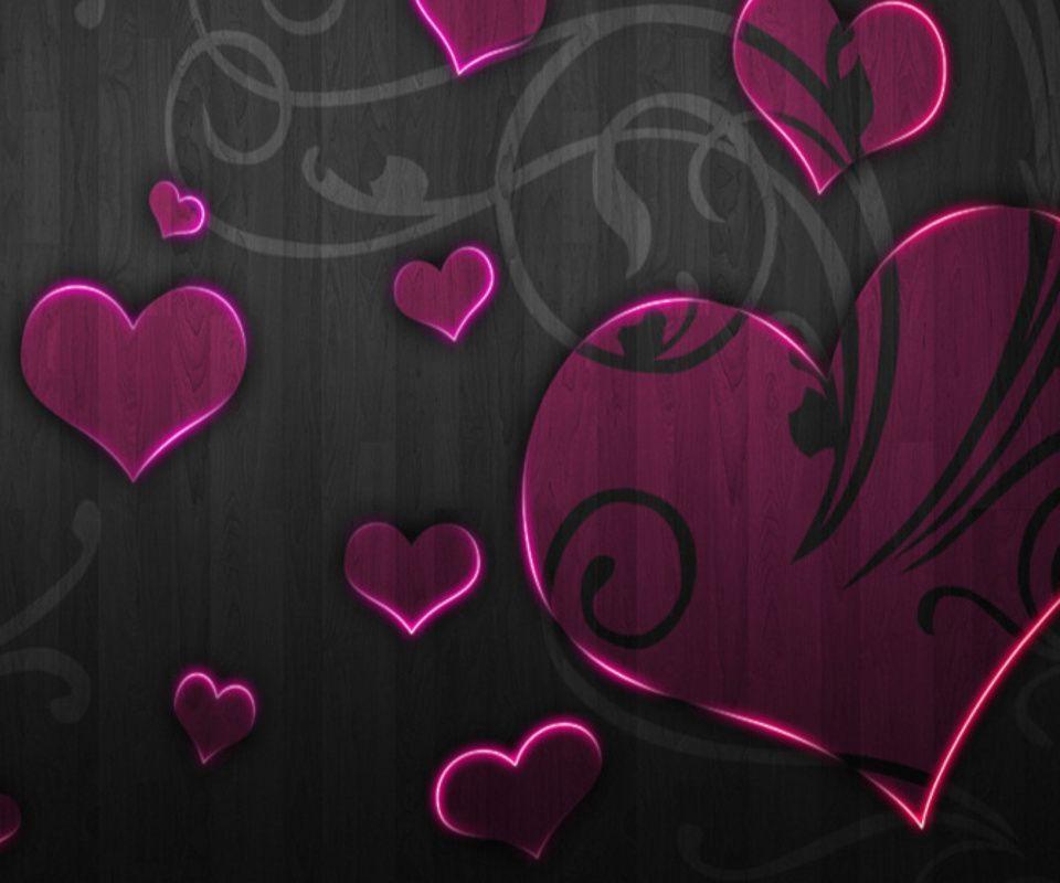 wallpaper purple hearts wallpapers - photo #16