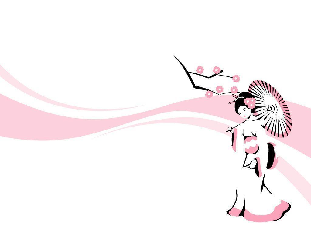wallpaper geisha corals girl - photo #24