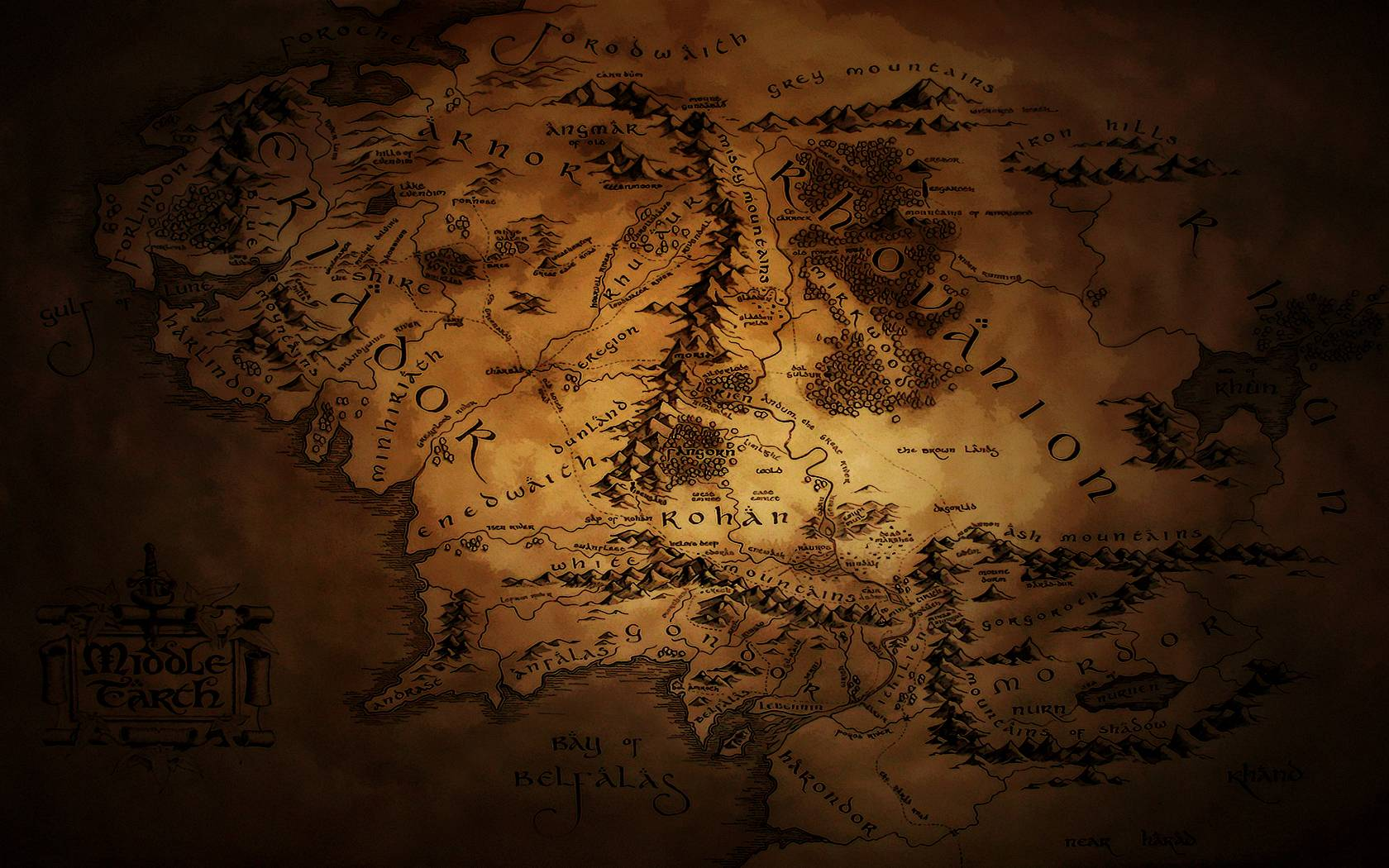 DeviantArt: More Like Middle Earth Map Wallpapers 2 by JohnnySlowhand