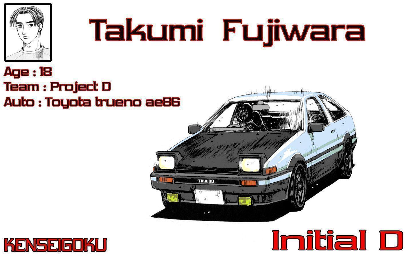 Image For > Initial D Anime Cars