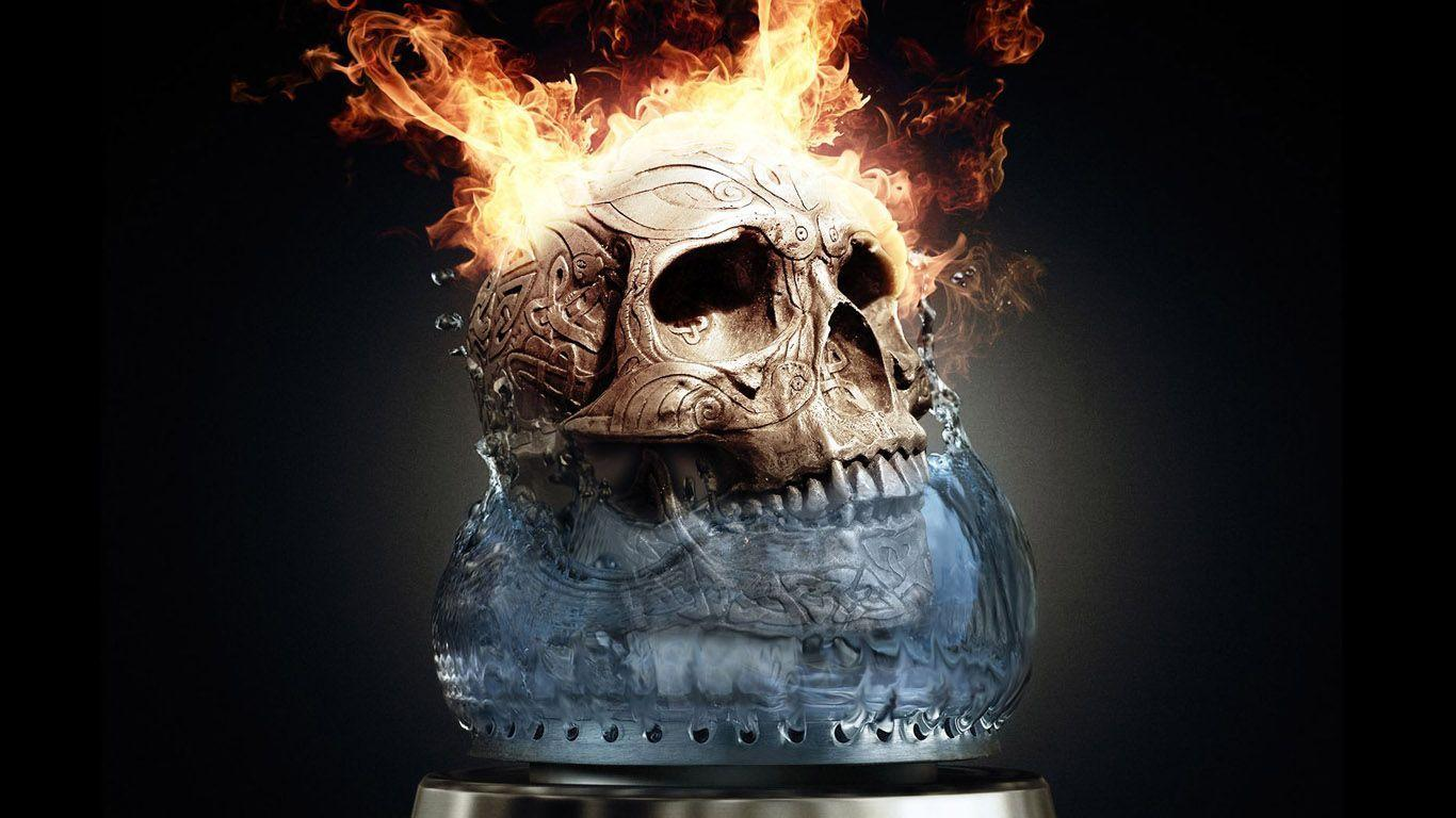 3d Skull Wallpaper #2241 | picttop.