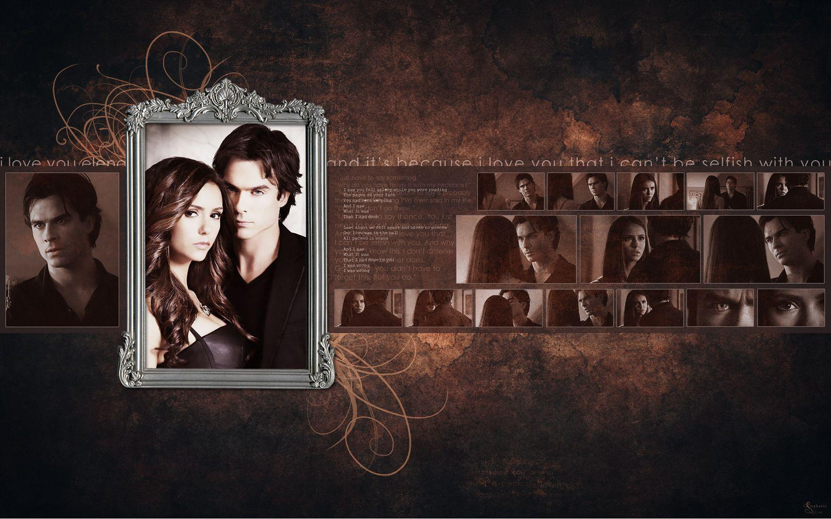 damon and elena wallpapers wallpaper cave