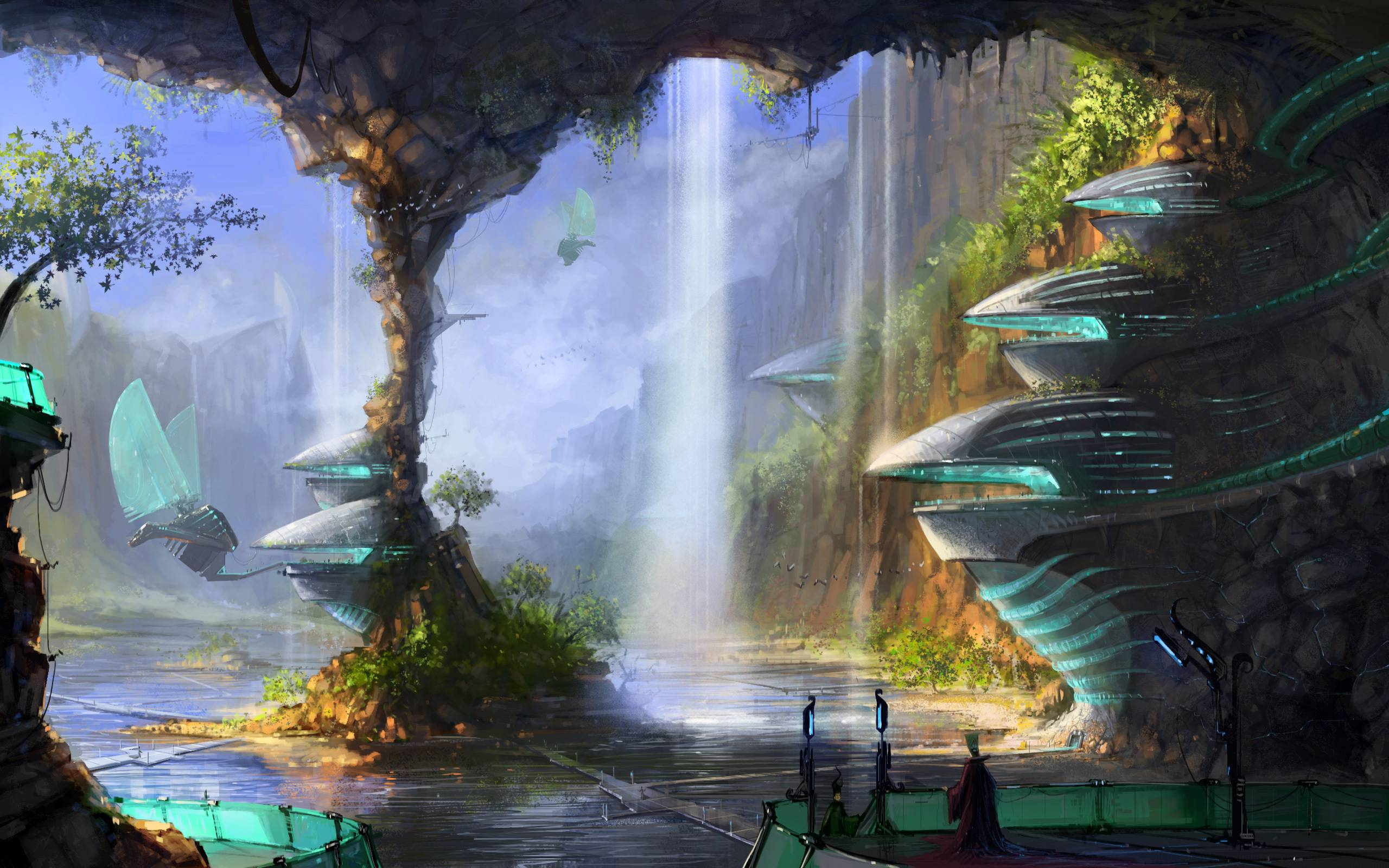 Abstract Fantasy Land Landscape Wallpapers