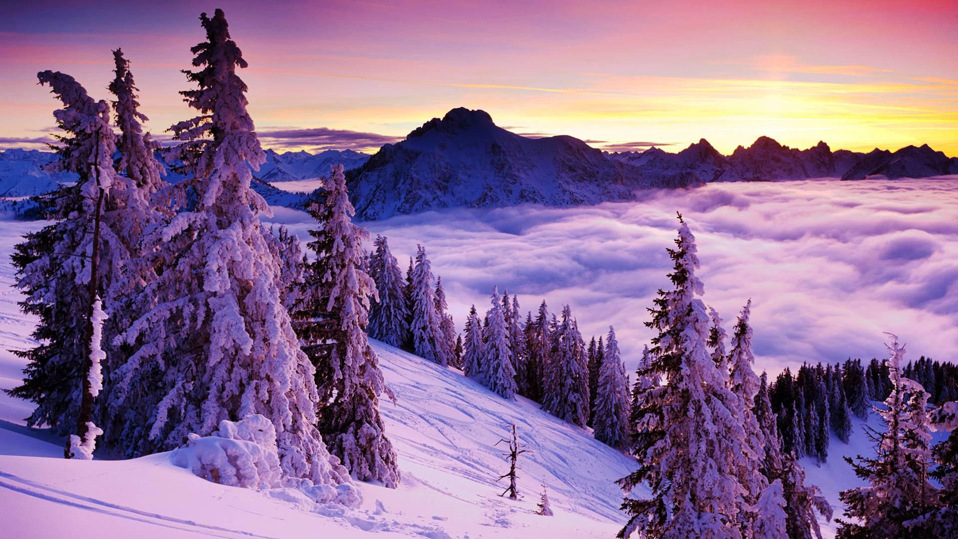 snow landscape backgrounds - photo #29