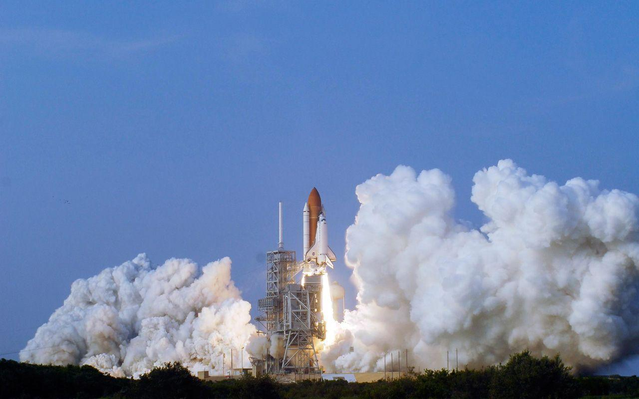 HD Wallpapers: 1280x800 » Space » Space Shuttle Endeavour Launch