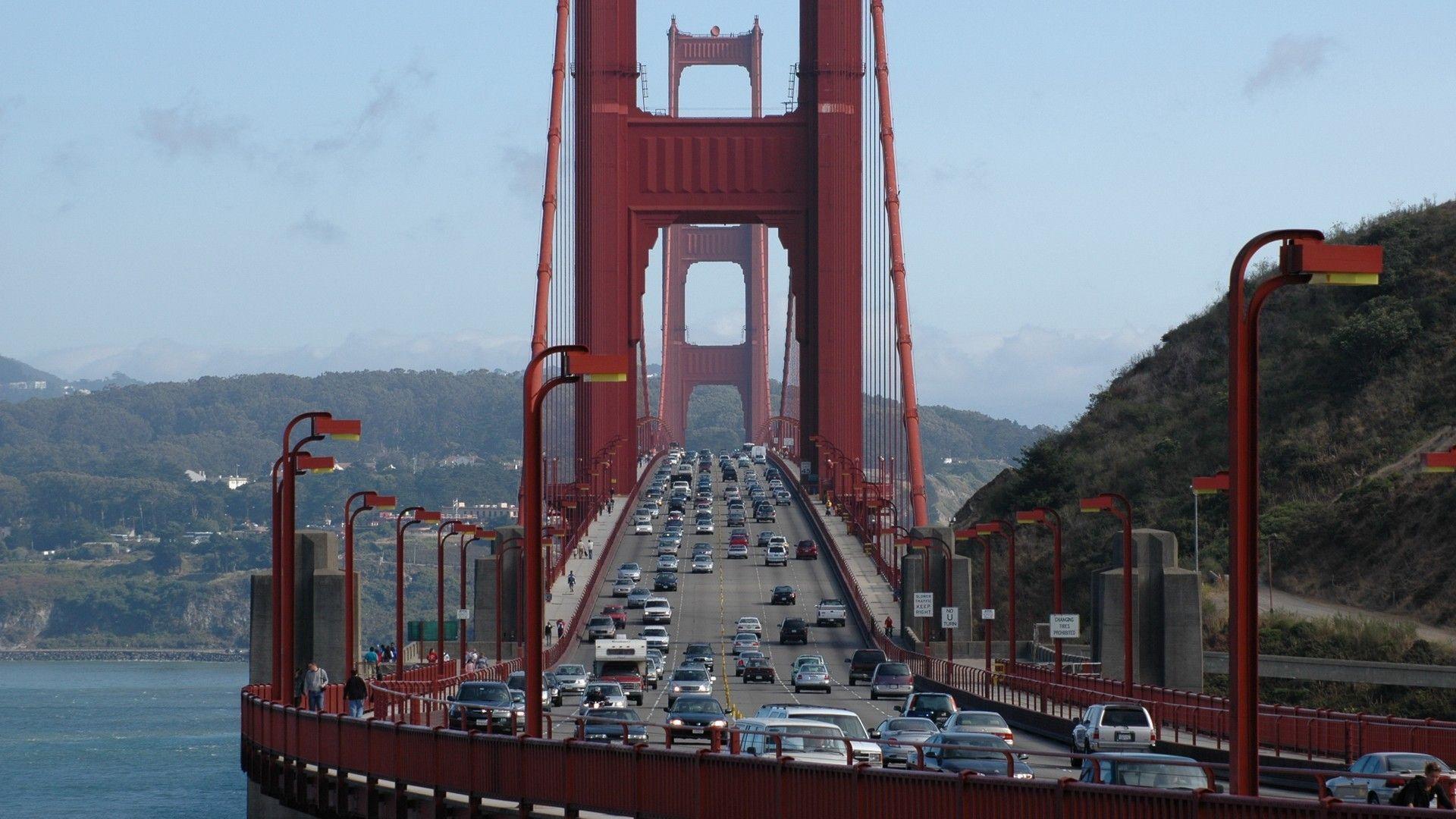 bridges san francisco hd wallpaper