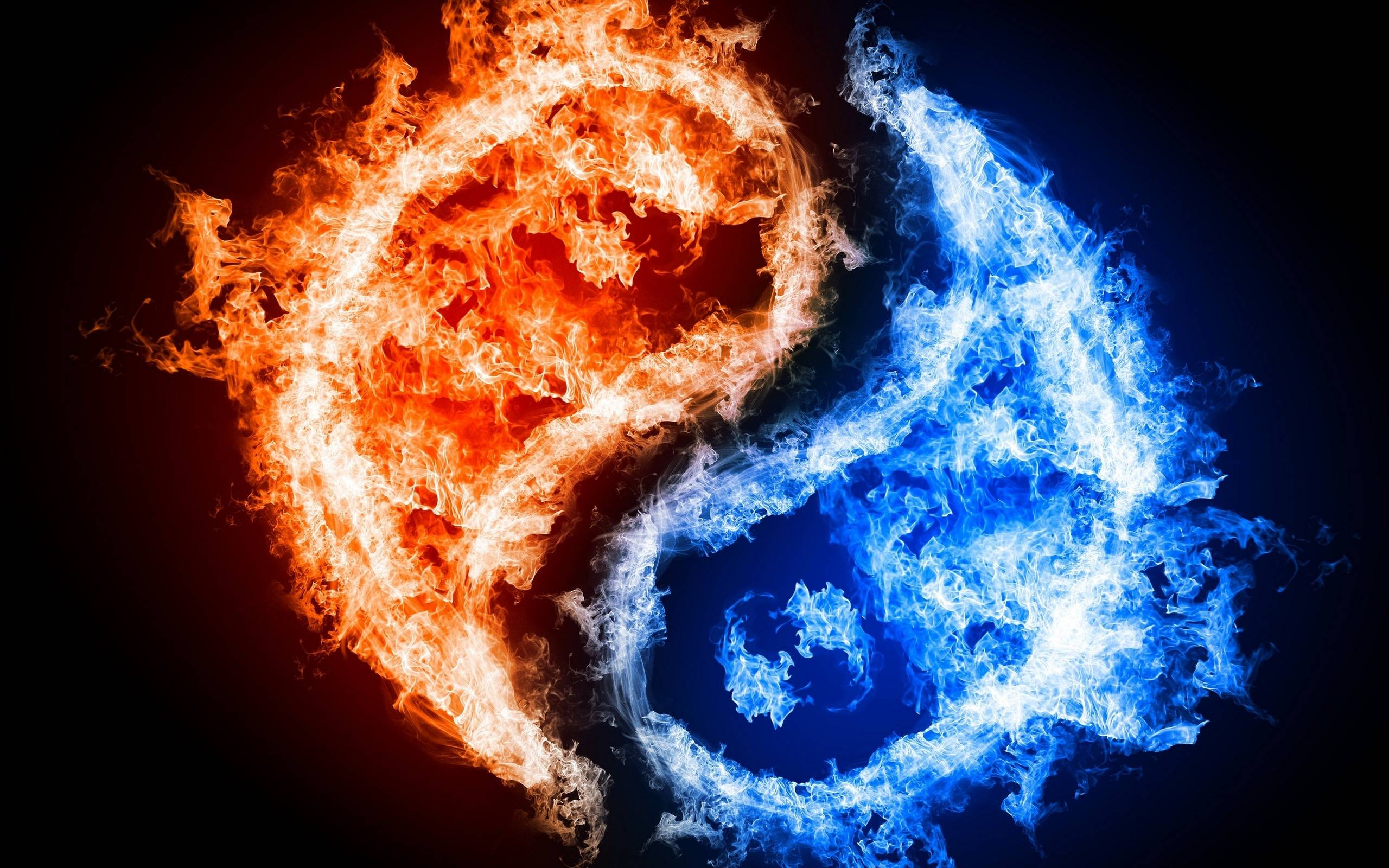 Yellow And Blue Fire
