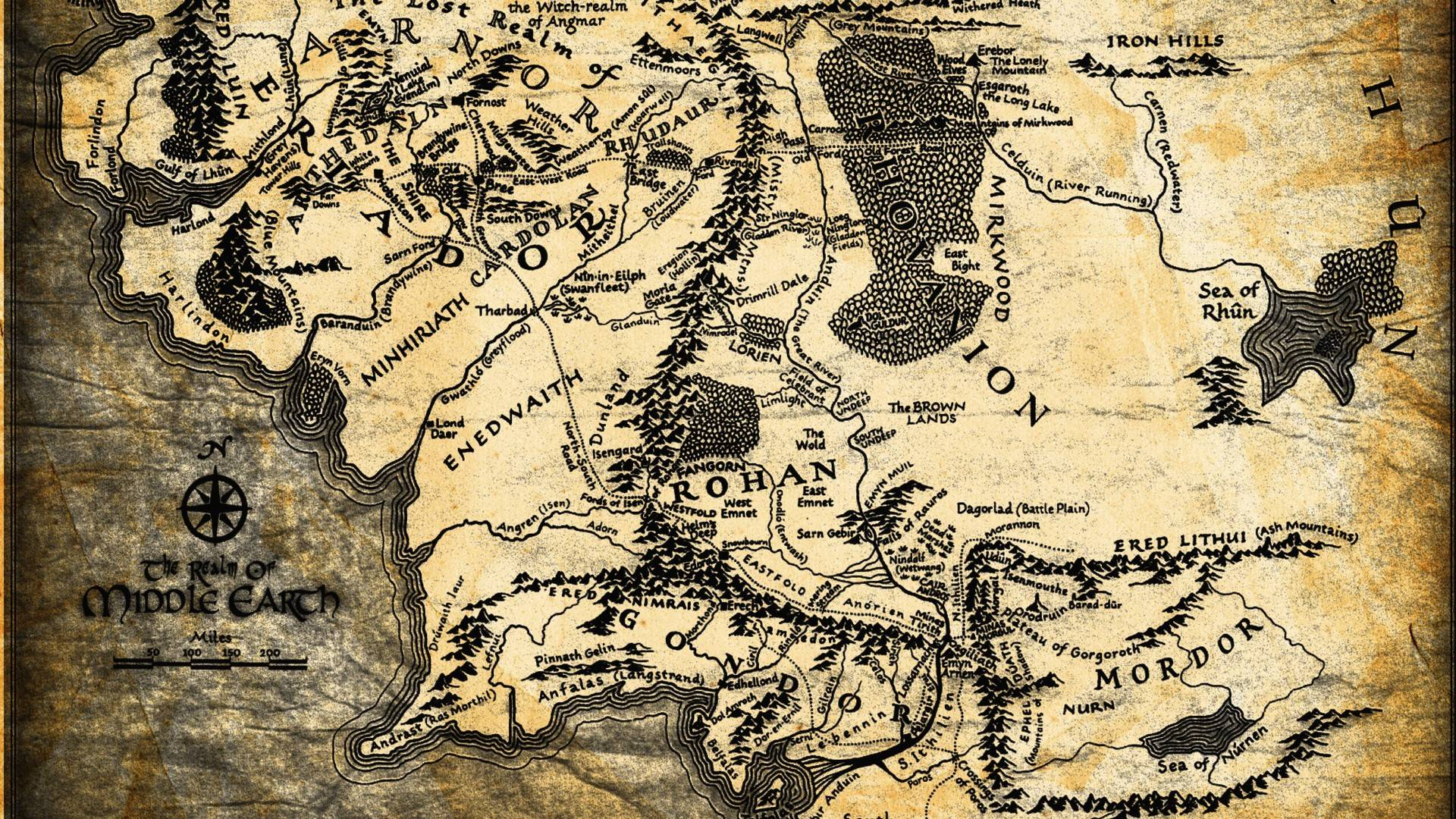 lord of the rings map wallpapers wallpaper cave