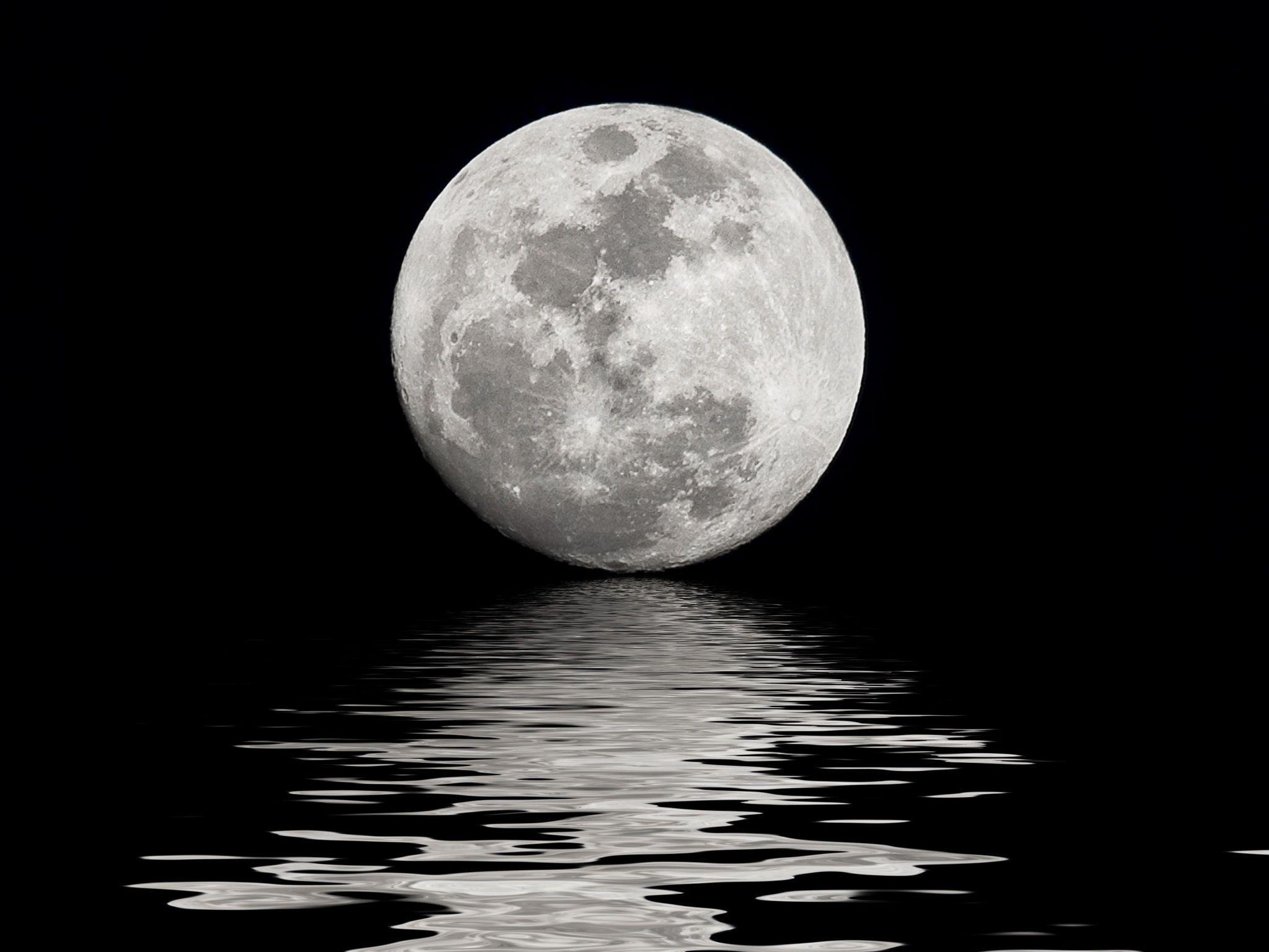 Moon Sea HD Wallpaper | Moon and Sea Images | Cool Wallpapers