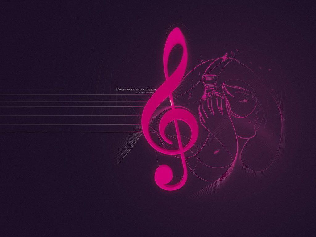 Wallpapers For Pink Music Notes Wallpaper