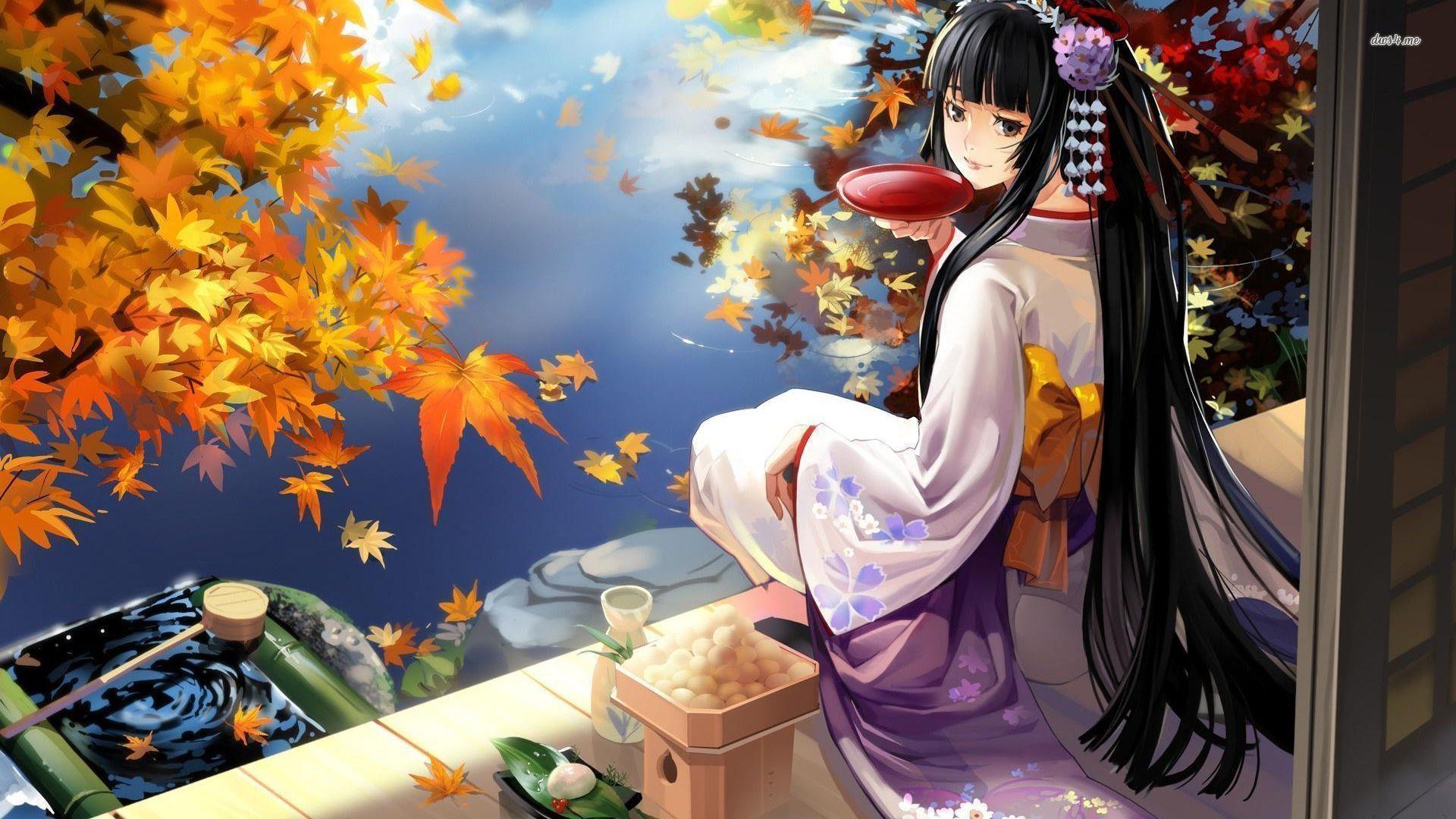 wallpaper geisha corals girl - photo #12