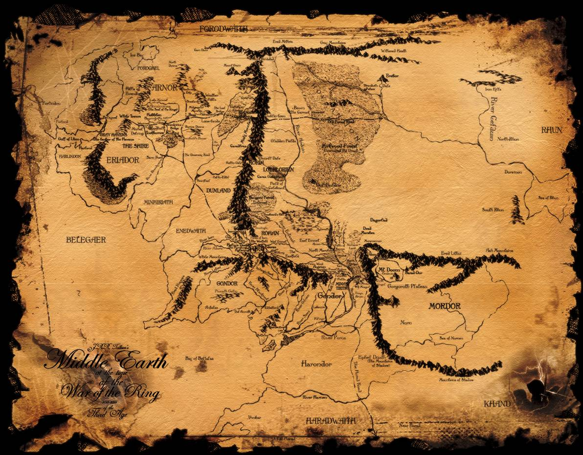Maps For > Map Of All Of Middle Earth