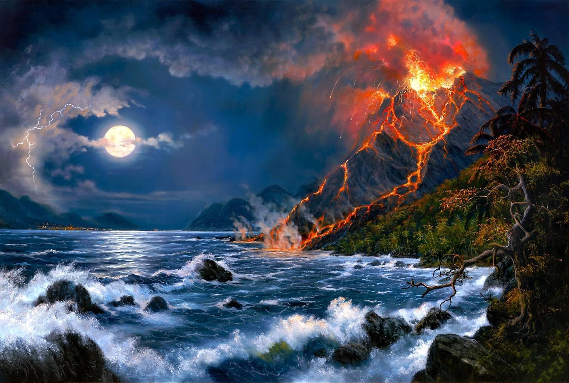 wallpaper hd volcano eruption - photo #31