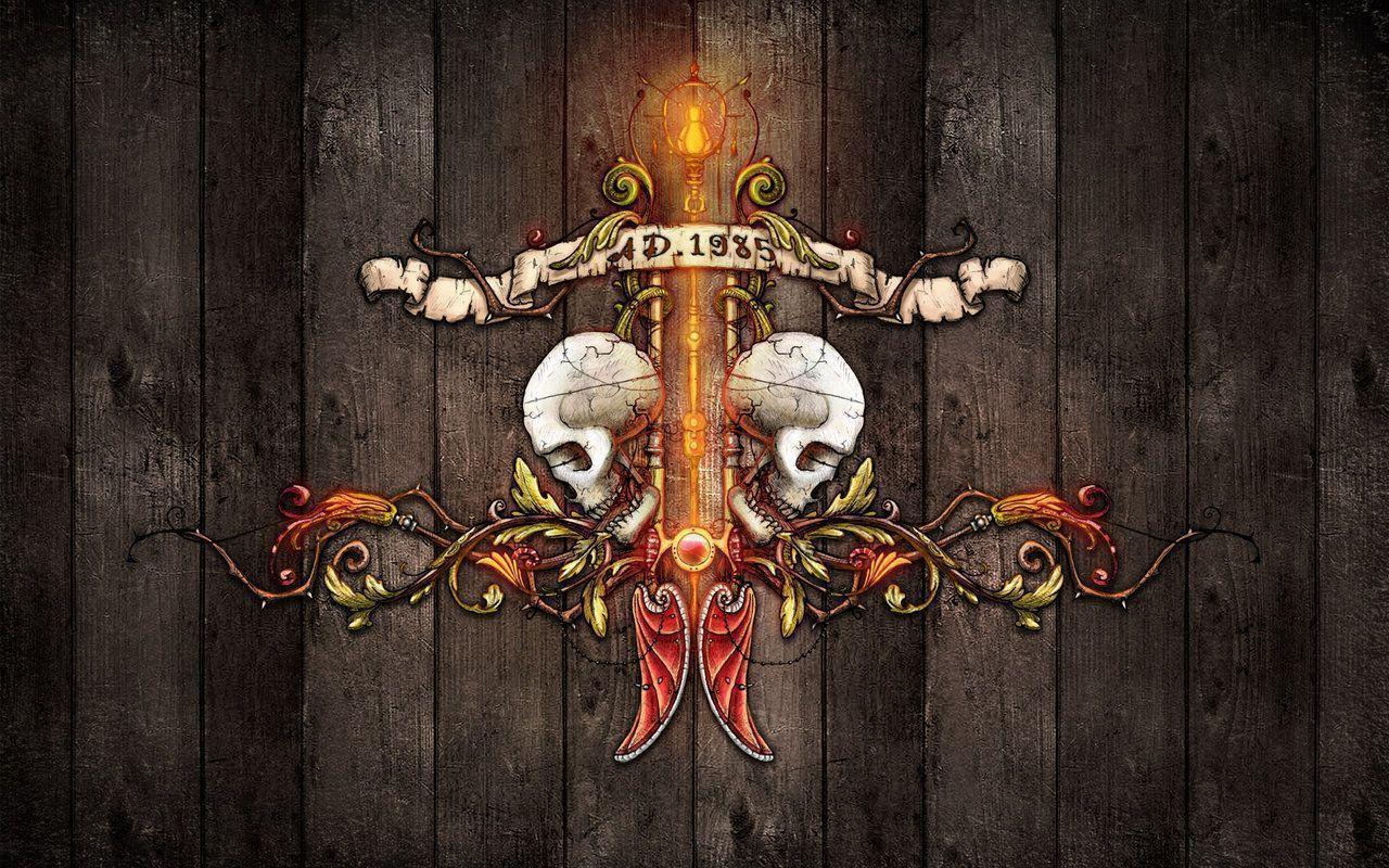 skull art wallpapers