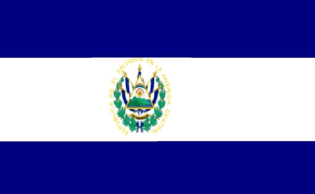 El Salvador Flag Colouring Pages Page 3