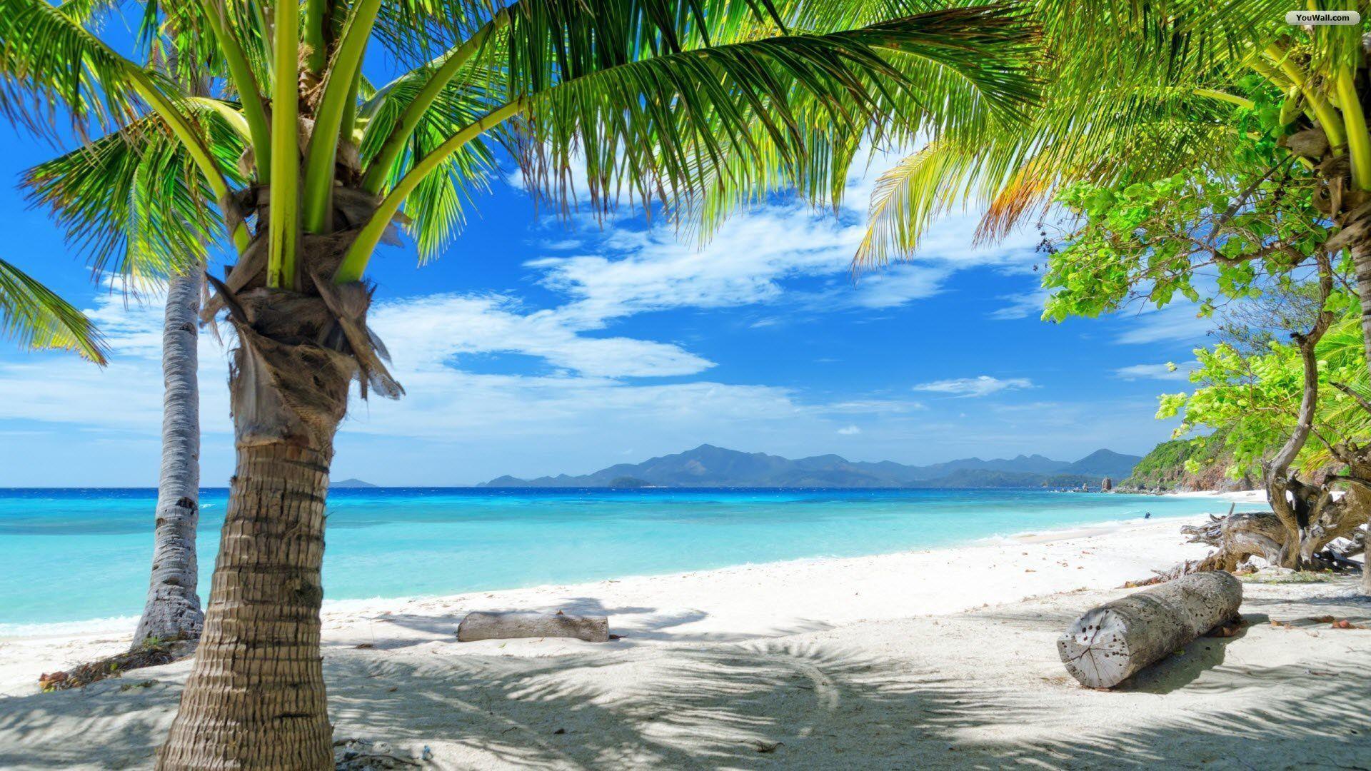 Paradise Beach Desktop Wallpaper